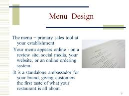 from design to evaluation for all types of menu u0027s ppt video