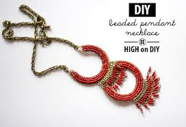 diy beaded pendant necklace images Diy beaded pendant necklace high on diy jpg