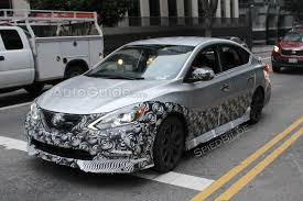 nissan sentra box type nissan sentra nismo spied testing in downtown la autoguide com news