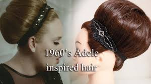 rolling hair styles 1960 s adele inspired hair style by yasmine alom youtube
