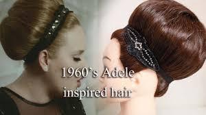 1960 u0027s adele inspired hair style by yasmine alom youtube