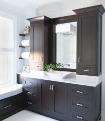 bathroom cabinet design ideas espresso cabinets with white countertops cabinets espresso