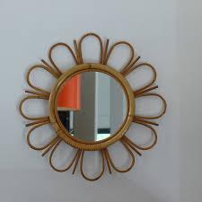 meubles en rotin miroir fleur en rotin lignedebrocante brocante en ligne chine