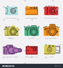 Types Of Photography Colorful Types Vector Icons Trendy Stock Vector 319276139