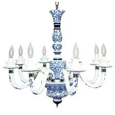 Blue Delft Chandelier Overstock This Blue And White Porcelain Hanging Light Fixture Is