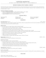 Sample Event Planner Resume Objective by Business And Financial Operations Resume Samples