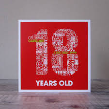personalised 18th birthday card by mrs l cards