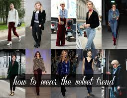 the velvet trend how to wear it without looking like a u002790s
