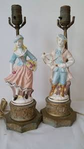 Antique Porcelain Table Lamps Details About Vintage Table Lamp Glass Gold Gilt French Style