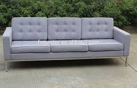 Florence Knoll Sofa Replica by Replica Classic Italian Leather Fabric Florence Knoll 3 Seater