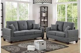 bayside black linen 2 piece sofa set