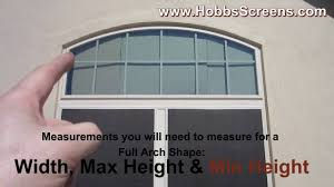 how to measure u0026 install full arch shaped solar screens for vinyl