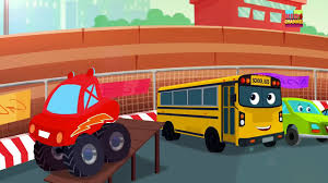 little red car monster truck dan we are the monster trucks video