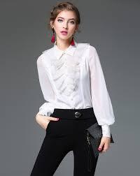 adorewe vipme blouses u0026 shirts mojaser white shirt collar