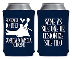 koozies for weddings sentenced to 1a custom coolers policewoman wedding favors