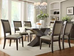 glass dining table and chairs set extending glass dining table