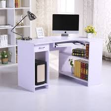 Cheap Computer Corner Desk Homcom Pc Corner Desk W118xd77xh76 Cm Lilac Aosom Co Uk