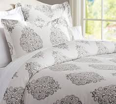 Pottery Barn Alessandra Duvet Asher Organic Duvet Cover Full Queen Gray Organic Duvet Covers