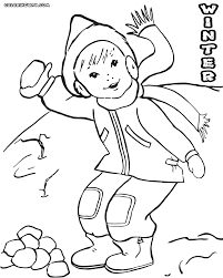 winter coloring pages coloring pages to download and print