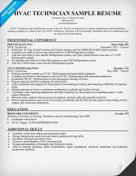 Hvac Resume Templates Hvac Resume Examples Hvac Resume Template Hvac Technician Resume