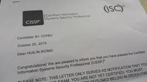 passed cissp exam on 2nd october 2015 u2013 xiong hui lin u0027s personal page