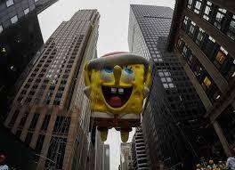 spongebob squarepants floats 6th at macy s thanksgiving day