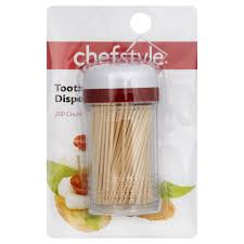 chefstyle plastic toothpick dispenser with toothpicks shop