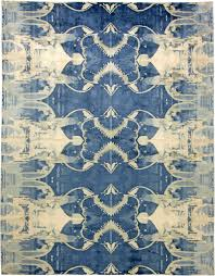 Silk Peacock Home Decor Contemporary Blucie Designed Rug N11283 By Doris Leslie Blau