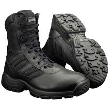 magnum panther st leather mens black steel toe cap safety boots