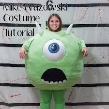mike wazowski monsters inc costume diy tutorial halloween