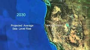 Map Oregon Coast by Sea Level Rise For The Coasts Of California Oregon And