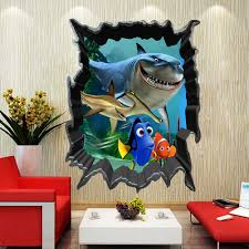 finding nemo bruce dory fish 3d view art wall stickers decals kids