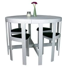 modern round 5 piece space saving dinette set white dining