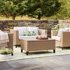 Patio Chairs With Ottoman Ottoman Outdoor Cushions Target