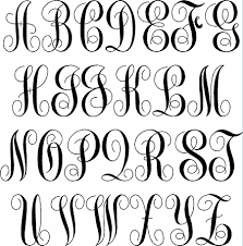 3 initial monogram fonts fancy 3 initial monogram wall decal written wall decals