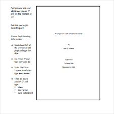 mla template download template