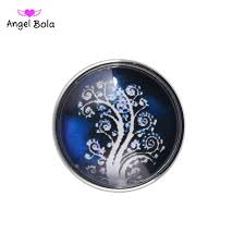 pryme tree peace sign 18mm snaps jewelry button