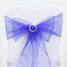 royal blue chair sashes sheer organza chair sash royal blue 5pcs efavormart