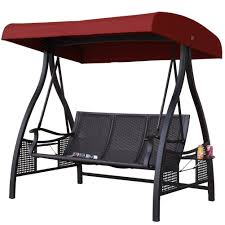 Outdoor Swing With Canopy Canopy Outdoor 3 Person Swing Porch Swings Compare Prices At