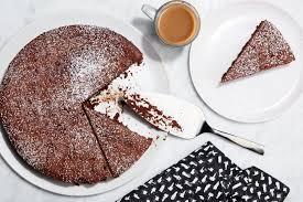 Cake 3 Ingredient Flourless Chocolate Cake Recipe Epicurious Com