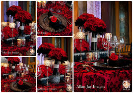 Red Wedding Decorations Red Silver And Black Wedding
