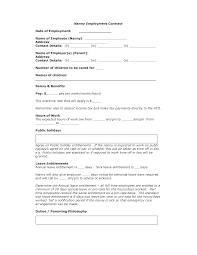 Sample Roommate Contract Stunning Nanny Agreement Contract Contemporary Sample Resumes