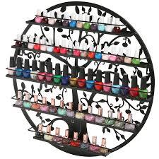 tree silhouette round nail polish display rack mygift