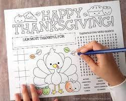free printable thanksgiving activity page thanksgiving