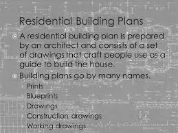 residential blueprints residential floor plans ppt