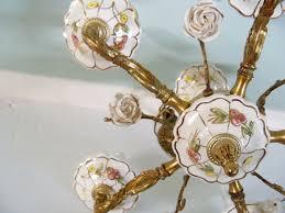 porcelain chandelier roses vintage porcelain chandelier