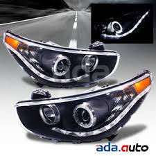 led halo headlight accent lights for 2012 2014 hyundai accent sedan hatchback led halo projector