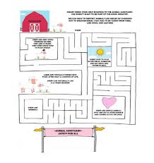 Printable Activity Book Vegan Kids Activity Book U0026 Printable Animal Sanctuary Maze