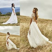 Aliexpress Com Buy Stunning Backless Bohemian Wedding Dress With