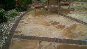 paver patio edging flagstone patio with brick border by josh link youtube